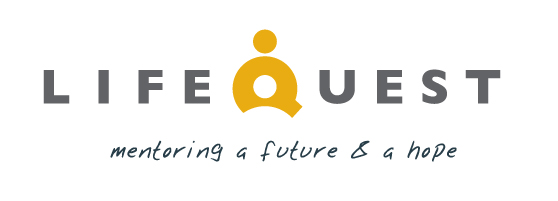 LifeQuest Logo with tagline mentoring a future and a hope